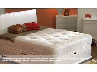 4ft6 Double Super Orthopaedic Divan Bed with Mattress - FREE Next Day Delivery Essex & London!
