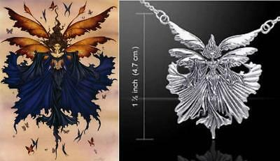 Unbound fairy necklace by fantasy artist Amy Brown and Peter Stone sterling (Artist Fairy Necklace)