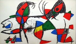 Miro-Lithograph-II-No-X-1975-Original-Lithograph-Custom-Frame-Art-MAKE-OFFER