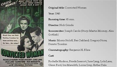 FILM NOIR X80: CONVICTED WOMAN 1940 Rochelle Hudson, Frieda Inescort, June Lang