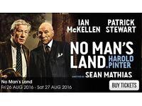 2 X Theatre tickets for NO MAN'S LAND - Brighton