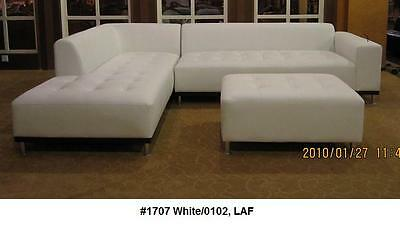Modern contemporary classic design white Leather Sectional Sofa 3 PC set #1707  ()