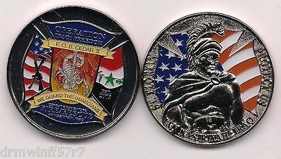 F.O.B. Camp Cedar II, Iraq  (Silver - new style)   fire challenge coin (patch)