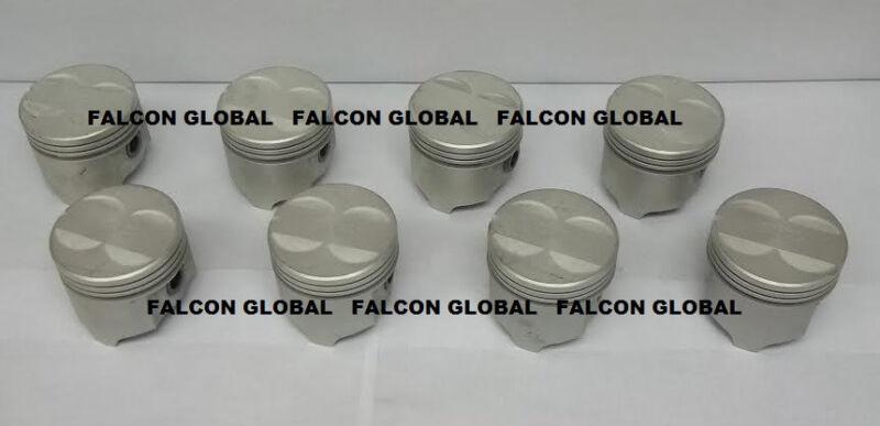 Sealed Power//Speed Pro Pontiac 350 Cast Flat Top Pistons+cast Rings Kit 030