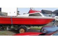 17 foot fast fishing boat