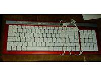 Logic Wired Slim USB Keyboard Red