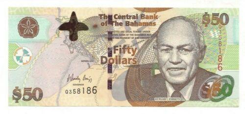 Bahamas 50 Dollars Series 2012