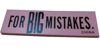 Big Mistake Eraser Color Pink 5 12 X 2