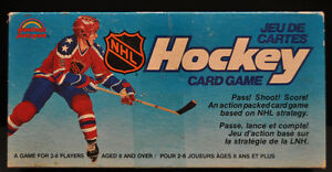 Vintage hockey card game