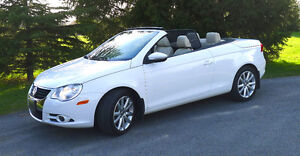 2011 VW EOS Hardtop Convertible 69k White/Cream - PERFECT