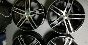4 Rims and 8 tires for Sale