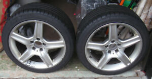 Audi  2014 A4 Winter Tires (4) Mounted On Chrome Alloy Rims (4)