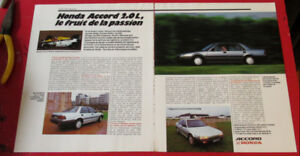 FRENCH 1986 HONDA ACCORD SEDAN RETRO AD - ANONCE EURO VINTAGE