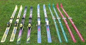 Assorted Skis and boots