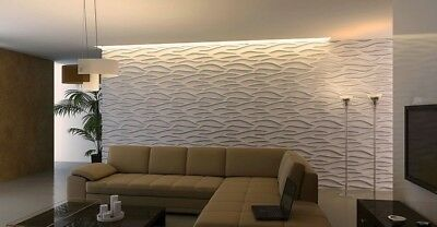 Cascade 3d Decorative Wall Panels 1 Pcs Abs Plastic Mold For Plaster