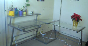 Used Office desk from Brick and Swivel chair from Bestbuy Edmonton Edmonton Area image 1