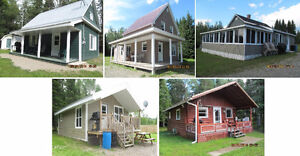 5 chalets à louer / 5 cottages for rent (Riley Brook)