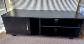 TV Cabinet Wood Black