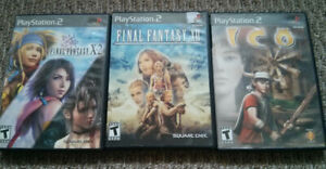 PS2 Games - Final Fantasy, Ico, Kingdom Hearts