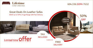 BIGGEST LEATHER SOFA LIQUIDATION SALE SOFA SET STARTING AT $1199