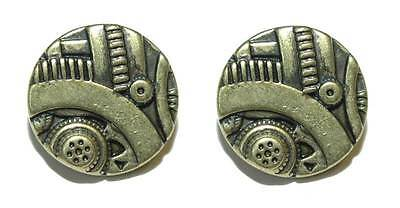 5 8  Antique Brass Steampunk Gadget Cuff Links  101A