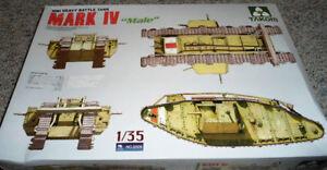 """Takom 1/35 WWI Heavy Battle Tank Mark IV """"Male"""""""