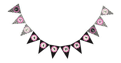 Parisian Themed Bridal Shower (Parisian Paris Theme PERSONALIZED Bridal Wedding Shower Birthday Pennant)