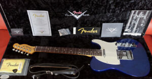 Mint '09 Ash Fender Tele Custom Shop Classic Trans Cobalt Blue