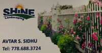 Shine Landscaping - Landscaping services.