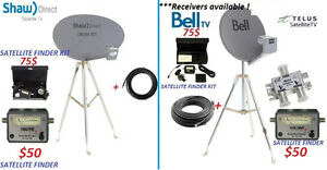 BELL /TELUS / SHAWDIRECT SATELLITE DISH  AND TRIPOD CAMPING KIT
