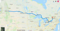 Rideshare Alberta to Ontario Oct 19- 25