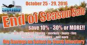 Fall Snorkeling and Scuba Sale
