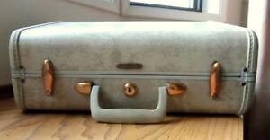 Vintage Retro 1950's Samsonite Hard Sided Overnight Suitcase
