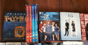 DVD box sets, different seasons,Friends, Gilmore Girls, Vampire