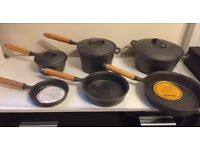 9 piece cast iron pot & pan set Unseasoned