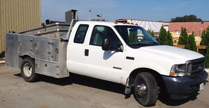 2003 Ford F350 Dually XL Pickup Truck Alum Utility Body Dump Bed