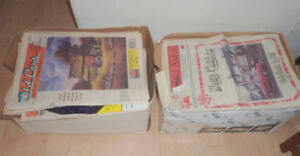 2 boxes stuffed with Old Autos, Old Cars magazines from 80s, 90s