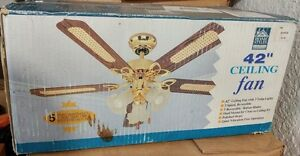 """42"""" Ceiling Fan and Lights Brand New"""