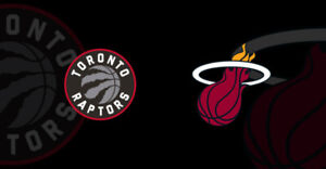 Toronto Raptors vs Miami Heat (2 or 4 Tickets) Sec 109 & 117