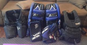 Goalie Pads/Ball Hockey Helmet