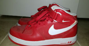 Red nike air force 1s (high tops)