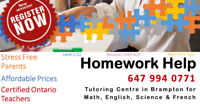 Tutoring- Grade 1-12- Math, Science, English, French