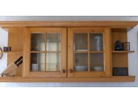 Magnet pine kitchen display wall unit