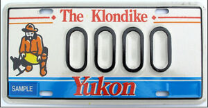 License plates from Yukon