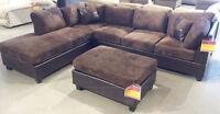 699$-- 3 pieces, two toned sectional & matching pillows **