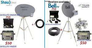BELL /TELUS / SHAWDIRECT SATELLITE DISH  AND TRIPOD CAMPING KIT