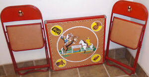 1950's Roy Rogers Dale Evans Card Table and Chairs Peterborough Peterborough Area image 1