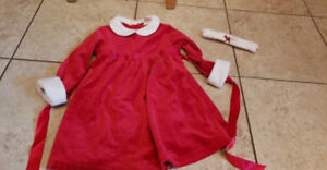 Girls xmas dress size 2