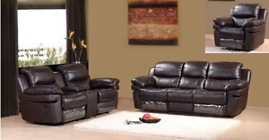 LORD SELKIRK FURNITURE - RECLINER - BLACK OR CHOCOLATE