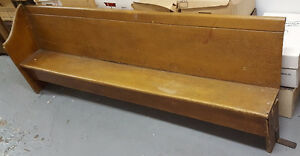 Antique Children's Wooden Solid Pine Church Pew